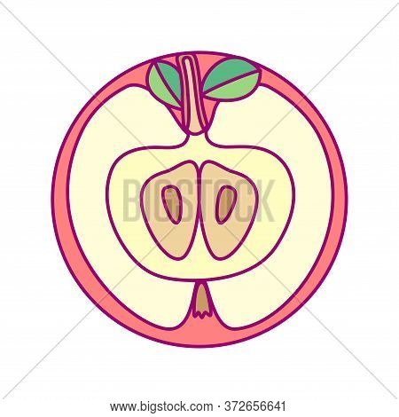 Vector Template Round Fruit. Print For Disposable Tableware