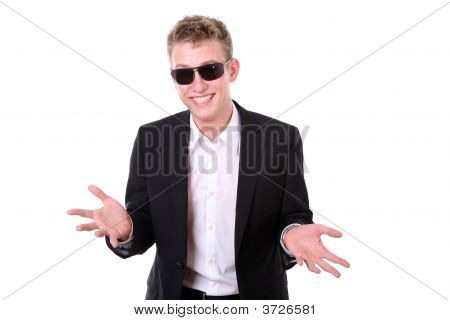 Cool Young Man With Boyish Grin