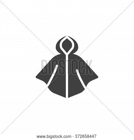 Raincoat Vector Icon. Filled Flat Sign For Mobile Concept And Web Design. Hooded Raincoat Glyph Icon
