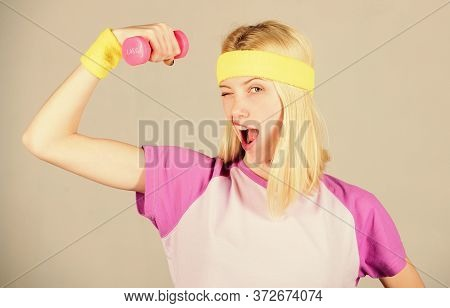 Weight Loss Concept. Workout Sport And Dieting. Woman Workout In Gym With Sport Equipment. Workout R