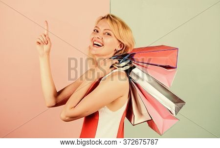 Shopping Happiness. Present Packages For Holiday Preparation. Summer Discount. Special Offer On Blac