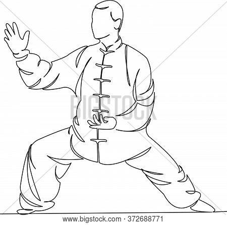 Man Practices Qigong