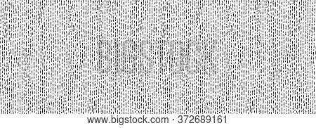 Hand Drawn Seamless Pattern. Vector Strips And Dots Texture, Endless Background Painted By Ink. Blac