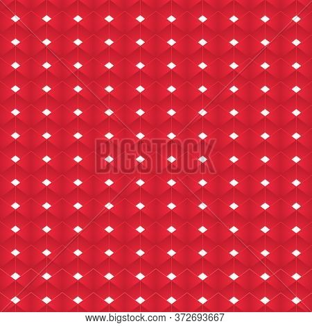 Ruby Diamonds Abstract Vector Pattern. Scaly Pattern