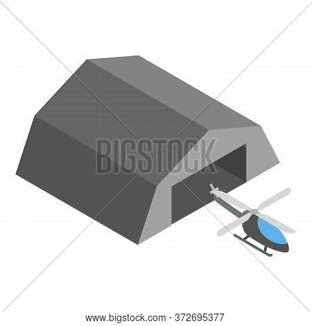 Rescue Helicopter Icon. Isometric Illustration Of Rescue Helicopter Vector Icon For Web