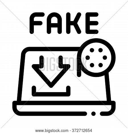 Deepfake Human Profile Icon Vector. Deepfake Human Profile Sign. Isolated Contour Symbol Illustratio