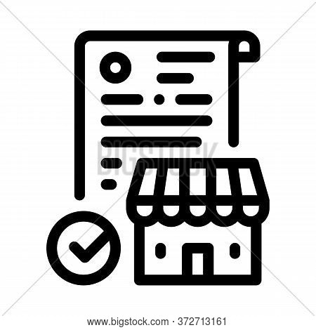 Franchise Contract Agreement Icon Vector. Franchise Contract Agreement Sign. Isolated Contour Symbol