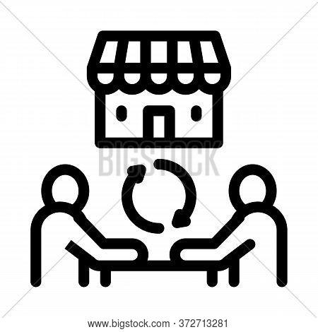 Franchise Partnership Icon Vector. Franchise Partnership Sign. Isolated Contour Symbol Illustration