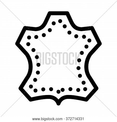 Leather Label Icon Vector. Leather Label Sign. Isolated Contour Symbol Illustration
