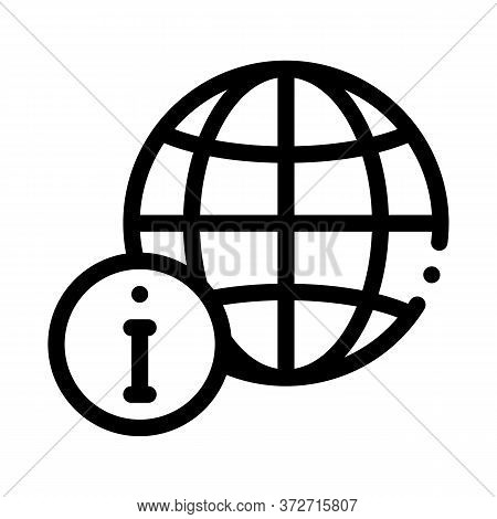 Worldwide Information Icon Vector. Worldwide Information Sign. Isolated Contour Symbol Illustration