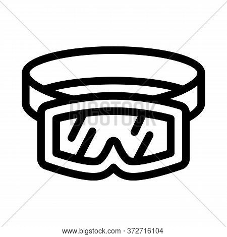 Skier Protective Glasses Icon Vector. Skier Protective Glasses Sign. Isolated Contour Symbol Illustr