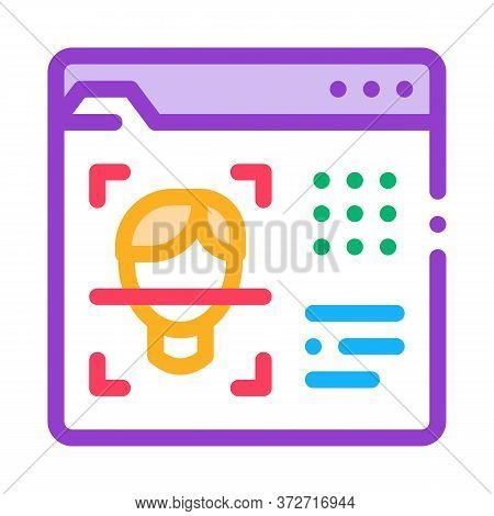 Deepfake Online Scanner Icon Vector. Deepfake Online Scanner Sign. Color Symbol Illustration