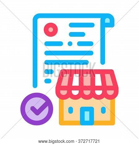 Franchise Contract Agreement Icon Vector. Franchise Contract Agreement Sign. Color Symbol Illustrati