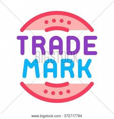Trade Mark Logo Icon Vector. Trade Mark Logo Sign. Color Symbol Illustration