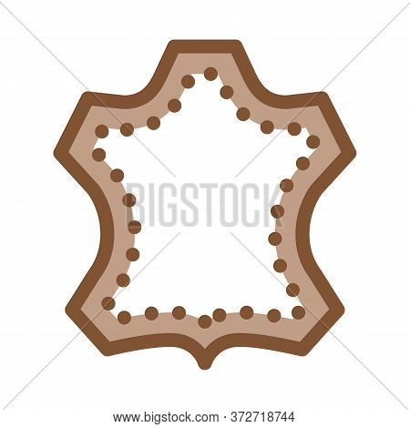 Leather Label Icon Vector. Leather Label Sign. Color Symbol Illustration