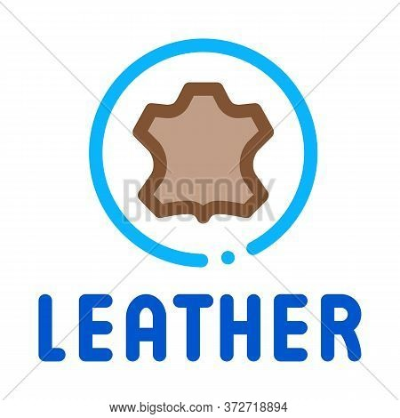 Genuine Leather Label Icon Vector. Genuine Leather Label Sign. Color Symbol Illustration