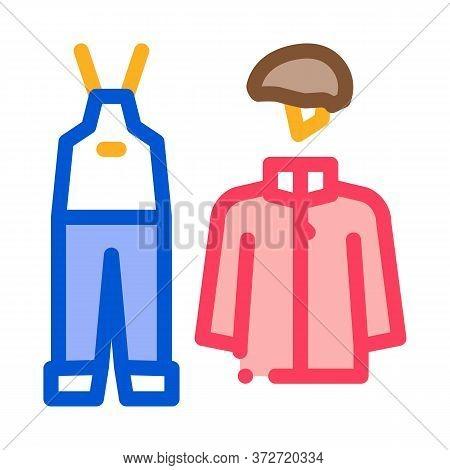 Alpinism Clothes Icon Vector. Alpinism Clothes Sign. Color Symbol Illustration