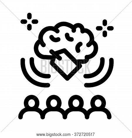 Price People Brainstorm Icon Vector. Price People Brainstorm Sign. Isolated Contour Symbol Illustrat