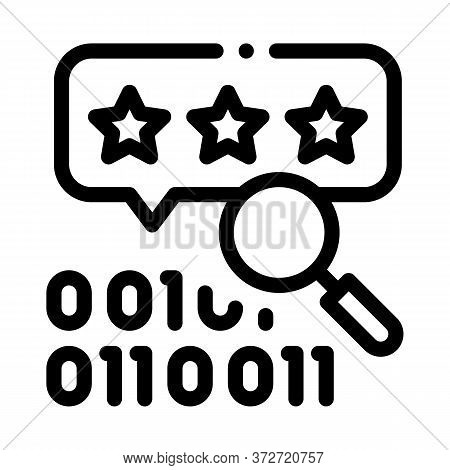 Binary Code Research And Assessment Icon Vector. Binary Code Research And Assessment Sign. Isolated
