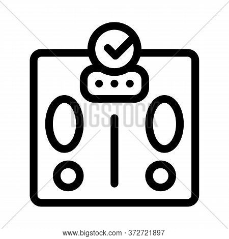 Weighing Device Icon Vector. Weighing Device Sign. Isolated Contour Symbol Illustration