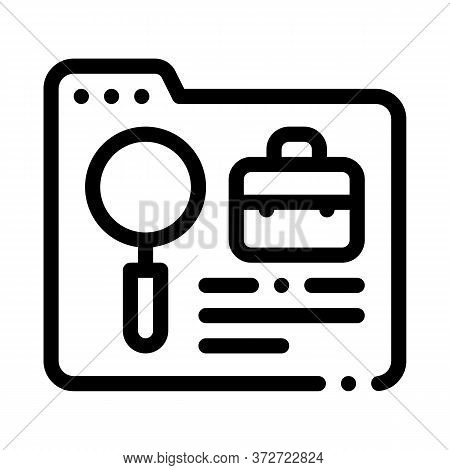 Folder Research Business Case Icon Vector. Folder Research Business Case Sign. Isolated Contour Symb