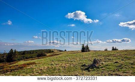 Colorful Mountain Ridge Landscape, Jeseniky, Czech Republic.