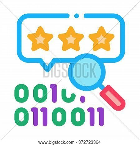 Binary Code Research And Assessment Icon Vector. Binary Code Research And Assessment Sign. Color Sym