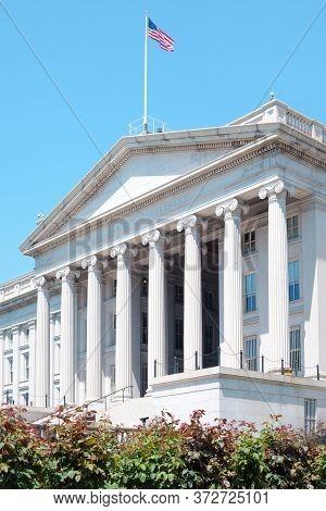 The Treasury Department Building, Washington D.c., United States.