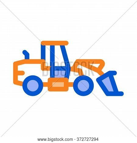 Road Repair Machine Icon Vector. Road Repair Machine Sign. Color Symbol Illustration