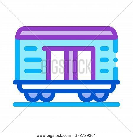 Freight Wagon Icon Vector. Freight Wagon Sign. Color Symbol Illustration