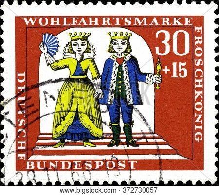 02 10 2020 Divnoe Stavropol Krai Russia The Postage Stamp Germany West Berlin 1966 Charity Stamps Ta