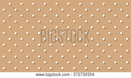 Polka Dot White On Brown Pastel Soft Background, Brown Pastel Simple With Polka Dot Small Pattern