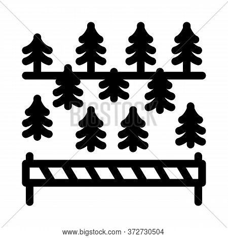Overlapped Forest Icon Vector. Overlapped Forest Sign. Isolated Contour Symbol Illustration