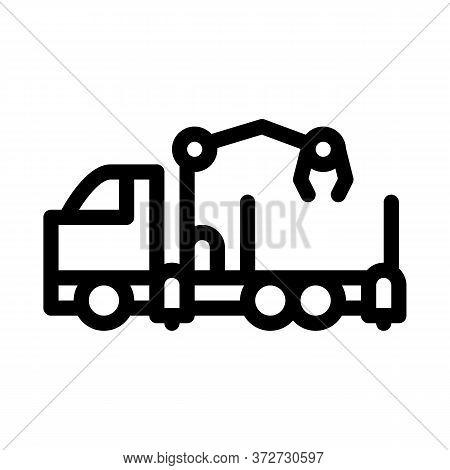 Manipulator Truck Icon Vector. Manipulator Truck Sign. Isolated Contour Symbol Illustration