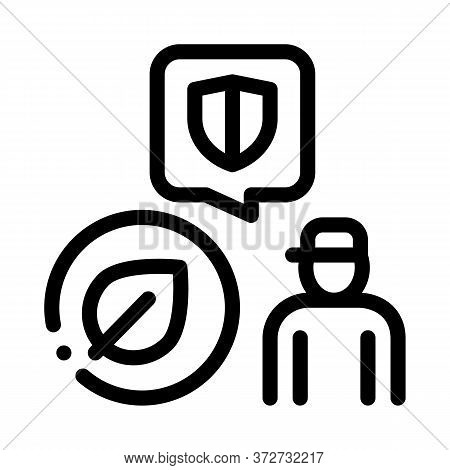 Forestry Defender Protector Icon Vector. Forestry Defender Protector Sign. Isolated Contour Symbol I