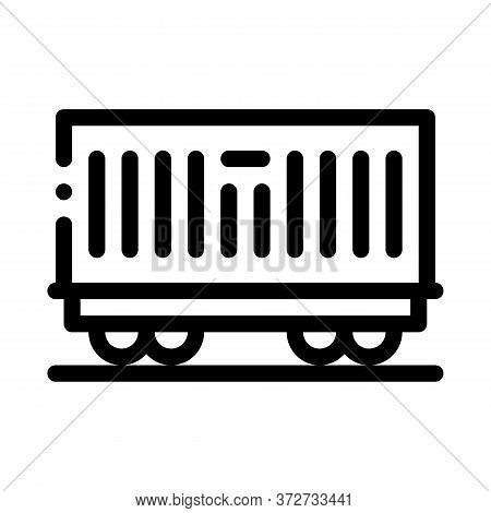 Carriage Container Transportation Icon Vector. Carriage Container Transportation Sign. Isolated Cont