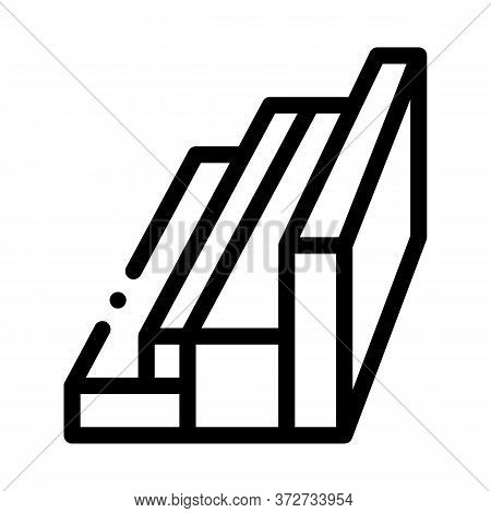 Wood Planks Different Sizes Icon Vector. Wood Planks Different Sizes Sign. Isolated Contour Symbol I