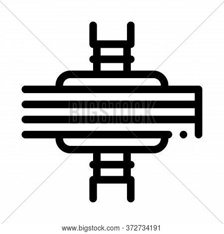 Wood Plank Pressing Icon Vector. Wood Plank Pressing Sign. Isolated Contour Symbol Illustration