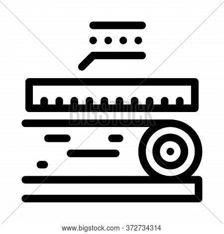 Wood Trunk Size Icon Vector. Wood Trunk Size Sign. Isolated Contour Symbol Illustration