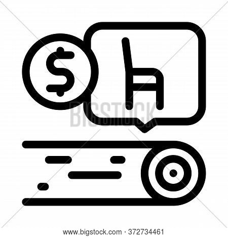 Wood Furniture Factory Icon Vector. Wood Furniture Factory Sign. Isolated Contour Symbol Illustratio