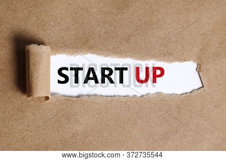 Start-up - Business And Innovation Concept.start Up Over White Background