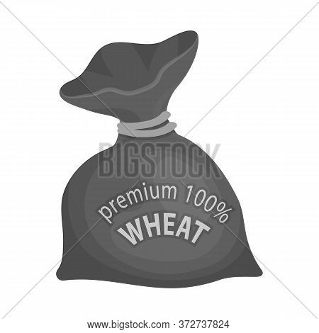 Vector Design Of Flour And Bag Sign. Set Of Flour And Sack Vector Icon For Stock.