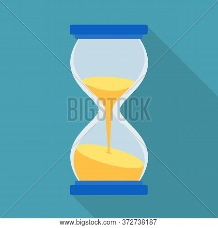 Isolated Object Of Timepieces And Sandglass Logo. Web Element Of Timepieces And Minute Stock Symbol