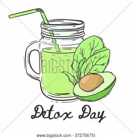 Detox Day Healthy Eating Program Nutrition Paleo Keto Organic Diet Nature Vector Illustration For Pr