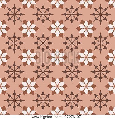 Retro Vintage Chinese Traditional Pattern Seamless Background Star Cross Flower Kaleidoscope
