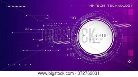Abstract Circuit Board Technology. Technological Design. High Tech Digital Technology Concept.