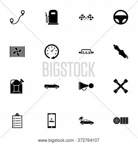 Automobile Icon - Expand To Any Size - Change To Any Colour. Perfect Flat Vector Contains Such Icons