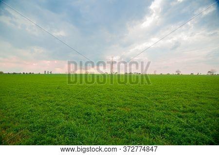 Lancaster Expansive Green Rural Landscape At Sunset