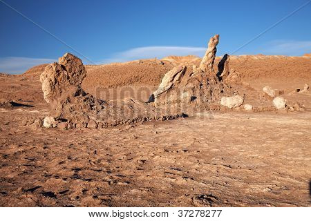 Las Tres Marias (The Three Marys), Valle de la Luna (Moon Valley), Atacama Desert, Chile