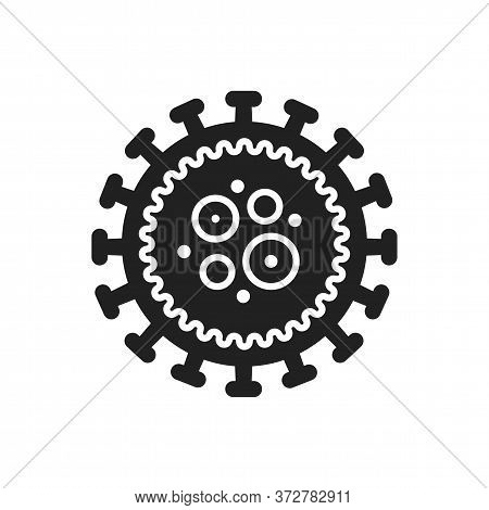 Immunodeficiency Virus Hiv Black Glyph Icon. Bacteria, Microorganism Sign. Disease And Illness Conce